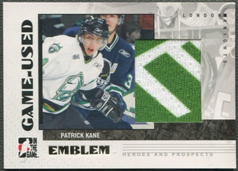 2007/08 ITG Heroes and Prospects #GUE18 Patrick Kane Emblem /30