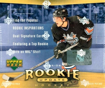 2005/06 Upper Deck Rookie Update Hockey Hobby Box