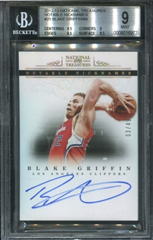 2012/13 Panini National Treasures Notable Nicknames #25 Blake Griffin 3/49 BGS 9 MINT