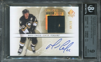 2012-13 SP Authentic Limited Autographed Patches #42 Mario Lemieux Serial # 4/10
