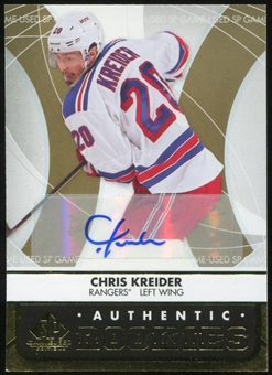 2012/13 Upper Deck SP Game Used Gold Autographs #136 Chris Kreider