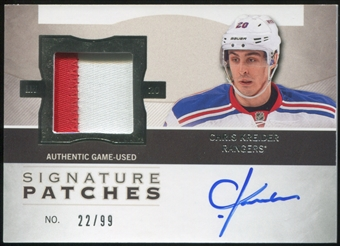 2012/13 Upper Deck The Cup Signature Patches #SPCK Chris Kreider 22/99