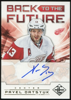 2012/13 Panini Limited Back To The Future Signatures #BTFDD Alex Delvecchio Pavel Datsyuk 13/25