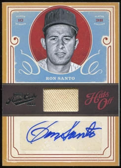 2012 Panini Prime Cuts Hats Off Signatures #9 Ron Santo 4/5