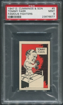 1947 D. Cummings & Sons Boxing #5 Tommy Farr Famous Fighters PSA 9 (MINT)