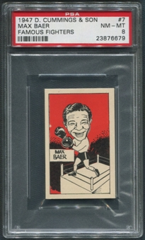 1947 D. Cummings & Sons Boxing #7 Max Baer Famous Fighters PSA 8 (NM-MT)