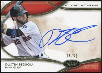 2014 Topps Tier One Acclaimed Autographs #AADP Dustin Pedroia 16/50
