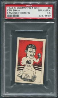 1947 D. Cummings & Sons Boxing #8 Ken Shaw Famous Fighters PSA 8.5 (NM-MT+)