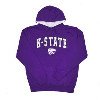 Kansas State Wildcats Colosseum Purple Zone Pullover Fleece Hoodie (Adult M)