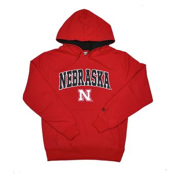 Nebraska Cornhuskers Colosseum Red Zone Pullover Fleece Hoodie (Adult M)