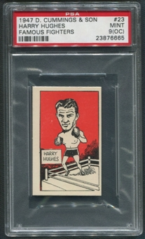 1947 D. Cummings & Sons Boxing #23 Harry Hughes Famous Fighters PSA 9 (MINT) (OC)