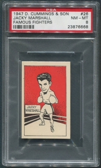1947 D. Cummings & Sons Boxing #26 Jacky Marshall Famous Fighters PSA 8 (NM-MT)
