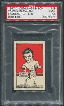 1947 D. Cummings & Sons Boxing #29 Tommy Barnham Famous Fighters PSA 7.5 (NM+)