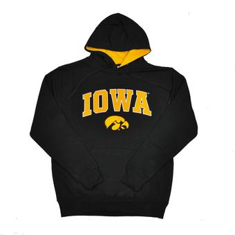 Iowa Hawkeyes Colosseum Black Zone Pullover Fleece Hoodie (Adult M)