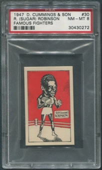 1947 D. Cummings & Sons Boxing #30 Sugar Ray Robinson Famous Fighters PSA 8 (NM-MT)