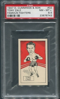 1947 D. Cummings & Sons Boxing #32 Tony Zale Famous Fighters PSA 8.5 (NM-MT+)