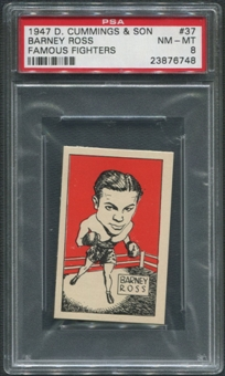 1947 D. Cummings & Sons Boxing #37 Barney Ross Famous Fighters PSA 8 (NM-MT)