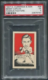 1947 D. Cummings & Sons Boxing #39 Benny Caplan Famous Fighters PSA 5 (EX)