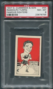 1947 D. Cummings & Sons Boxing #44 Randolph Turpin Famous Fighters PSA 8 (NM-MT)