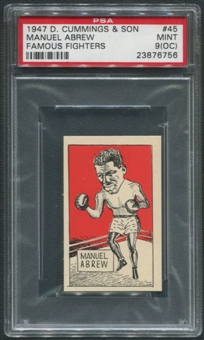 1947 D. Cummings & Sons Boxing #45 Manuel Abrew Famous Fighters PSA 9 (MINT) (OC)