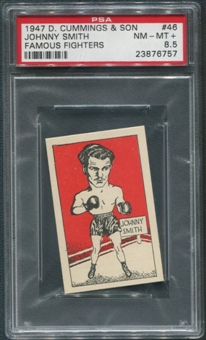 1947 D. Cummings & Sons Boxing #46 Johnny Smith Famous Fighters PSA 8.5 (NM-MT+)