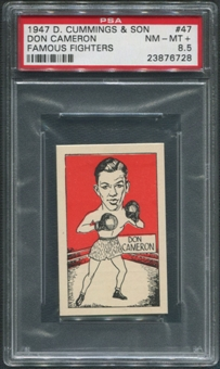 1947 D. Cummings & Sons Boxing #47 Don Cameron Famous Fighters PSA 8.5 (NM-MT+)