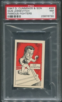 1947 D. Cummings & Sons Boxing #49 Gus Lesnevitch Famous Fighters PSA 7 (NM)