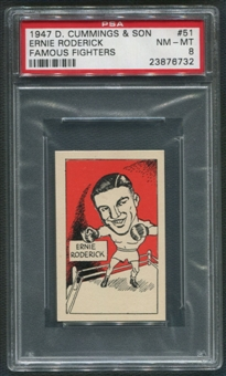 1947 D. Cummings & Sons Boxing #51 Ernie Roderick Famous Fighters PSA 8 (NM-MT)