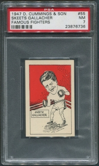 1947 D. Cummings & Sons Boxing #55 Skeets Gallacher Famous Fighters PSA 7 (NM)
