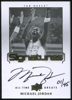 2013 Upper Deck All-Time Greats Signatures #ATGMJ9 Michael Jordan 1/45