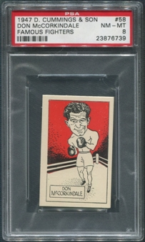 1947 D. Cummings & Sons Boxing #58 Don McCorkindale Famous Fighters PSA 8 (NM-MT)