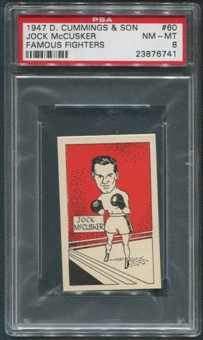 1947 D. Cummings & Sons Boxing #60 Jock McCusker Famous Fighters PSA 8 (NM-MT)