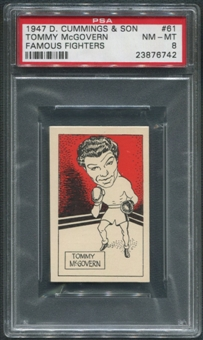 1947 D. Cummings & Sons Boxing #61 Tommy McGovern Famous Fighters PSA 8 (NM-MT)