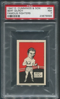 1947 D. Cummings & Sons Boxing #64 Bert Gilroy Famous Fighters PSA 7 (NM)