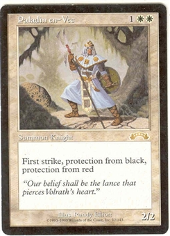 Magic the Gathering Exodus Single Paladin en-Vec LIGHT PLAY (NM)