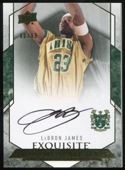 2012/13 Upper Deck Exquisite Collection Endorsements #JA LeBron James 80/99