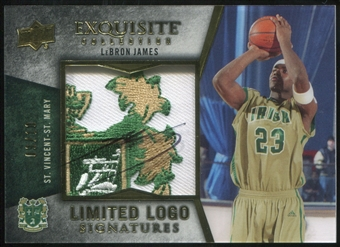 2012/13 Upper Deck Exquisite Collection Limited Logos #JA2 LeBron James 3/10