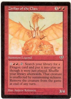 Magic the Gathering Mirage Single Zirilan of the Claw - NEAR MINT (NM)