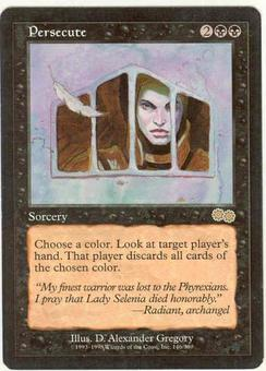 Magic the Gathering Urza's Saga Single Persecute LIGHT PLAY (NM)
