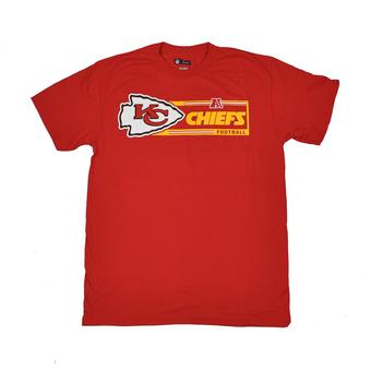 Kansas City Chiefs Majestic Red Critical Victory VII Tee Shirt (Adult M)