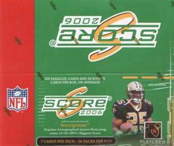 2006 Score Football 36-Pack Box