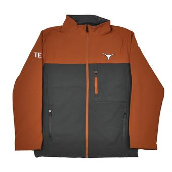 Texas Longhorns Colosseum Burnt Orange & Grey Yukon II Full Zip Jacket (Adult XXL)