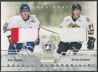 2007/08 ITG Heroes and Prospects #DM03 John Tavares & Steven Stamkos Silver Double Jersey /20