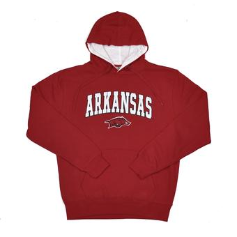 Arkansas Razorbacks Colosseum Red Zone Pullover Fleece Hoodie (Adult XL)