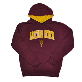 Arizona State Sun Devils Colosseum Maroon Zone Pullover Fleece Hoodie (Adult M)