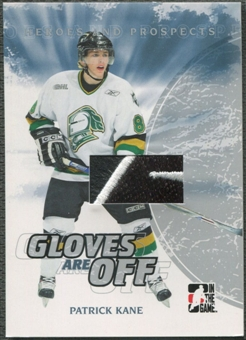 2007/08 ITG Heroes and Prospects #GO01 Patrick Kane Gloves Are Off Glove /70