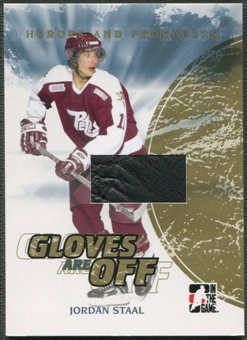 2007/08 ITG Heroes and Prospects #GO08 Jordan Staal Gloves Are Off Gold Glove /10