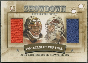 2010/11 Between The Pipes #SD01 Patrick Roy & John Vanbiesbrouck Showdown Dual Silver Jersey /39