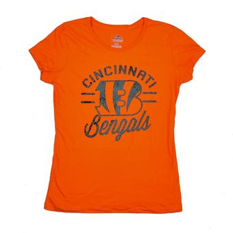 Cincinnati Bengals Majestic Orange Forward Progress III Tee Shirt (Womens Medium)