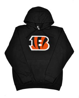 Cincinnati Bengals Majestic Black Telepatch Fleece Hoodie (Adult M)